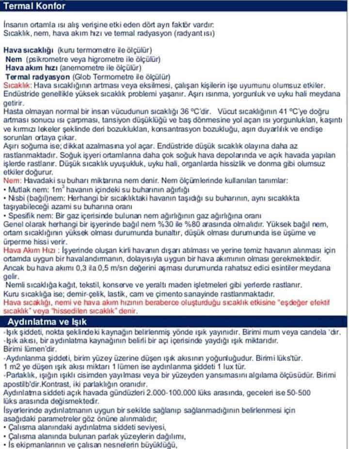İş Güvenliği Uzmanları İçin Sınava Hazırlık-4 11
