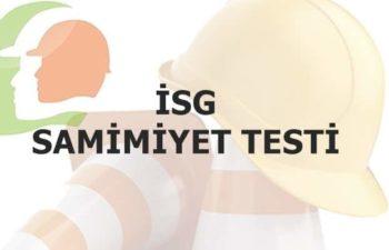 İş Sağlığı ve Güvenliği Samimiyet Testi 38