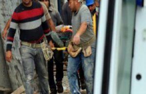 İskeleden düşen işçi yaralandı 1