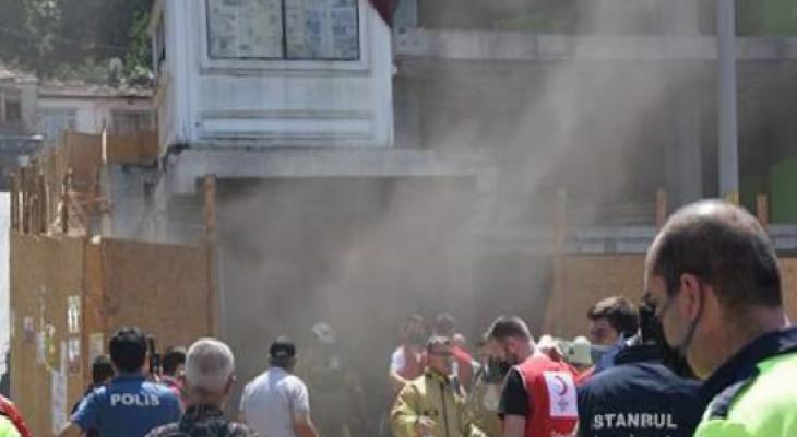 Beyoğlu'nda bir inşaatta yangın çıktı: 1'i ağır 6 işçi yaralı 7