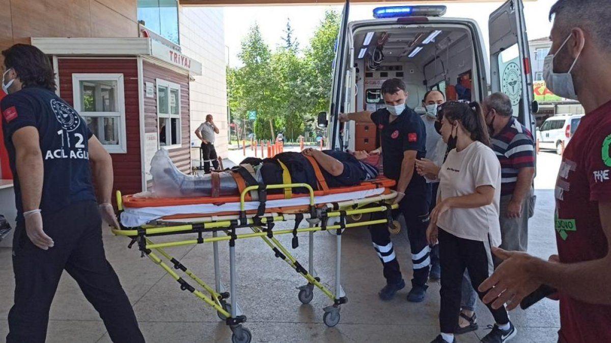 Bursa'da tekstil fabrikasında çalışan kadın işçi yaralandı 2