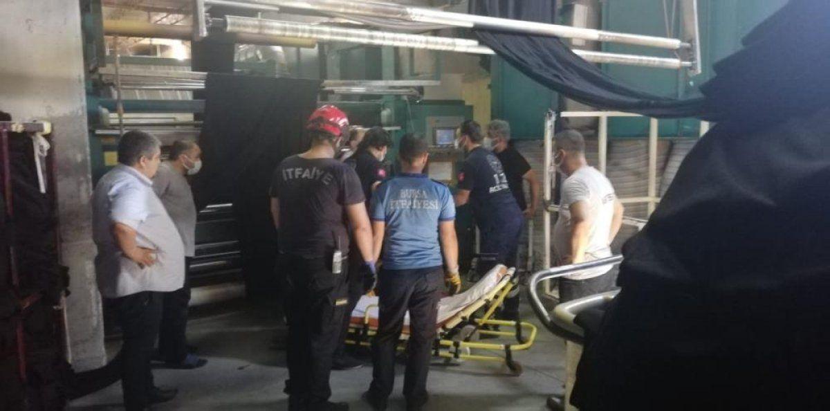 Bursa'da tekstil fabrikasında çalışan kadın işçi yaralandı 4