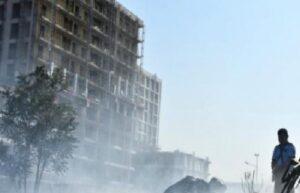 Demir kesen işçi fabrika bahçesini yaktı 3