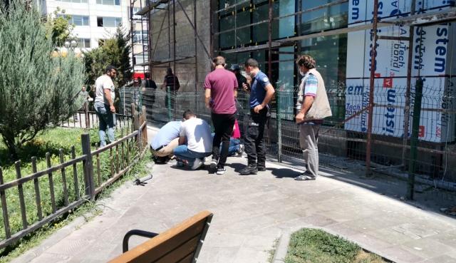 Karaman'da inşaatın 3. katından düşen işçi ağır yaralandı 2