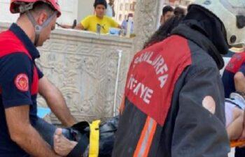 Şanlıurfa'da inşaatın 4'üncü katından düşen işçi yaralandı 11