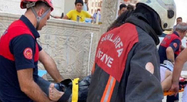 Şanlıurfa'da inşaatın 4'üncü katından düşen işçi yaralandı 12