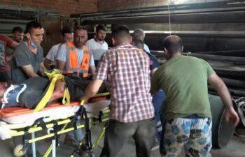 Sinop'ta, çatıdan düşen işçi yaralandı 6