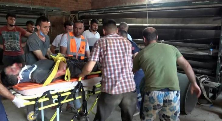 Sinop'ta, çatıdan düşen işçi yaralandı 4