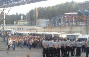 Soma'da bin 500 madenciden mobbing eylemi 3