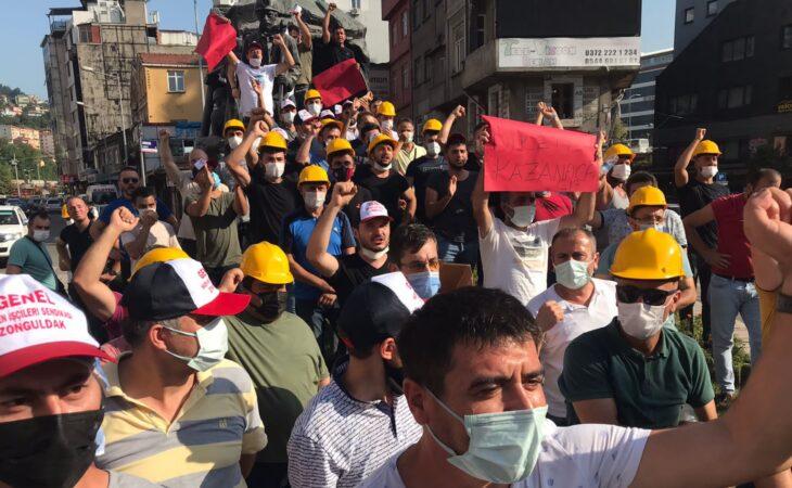 Zonguldak maden işçilerinden 'düşük ücret' protestosu 1