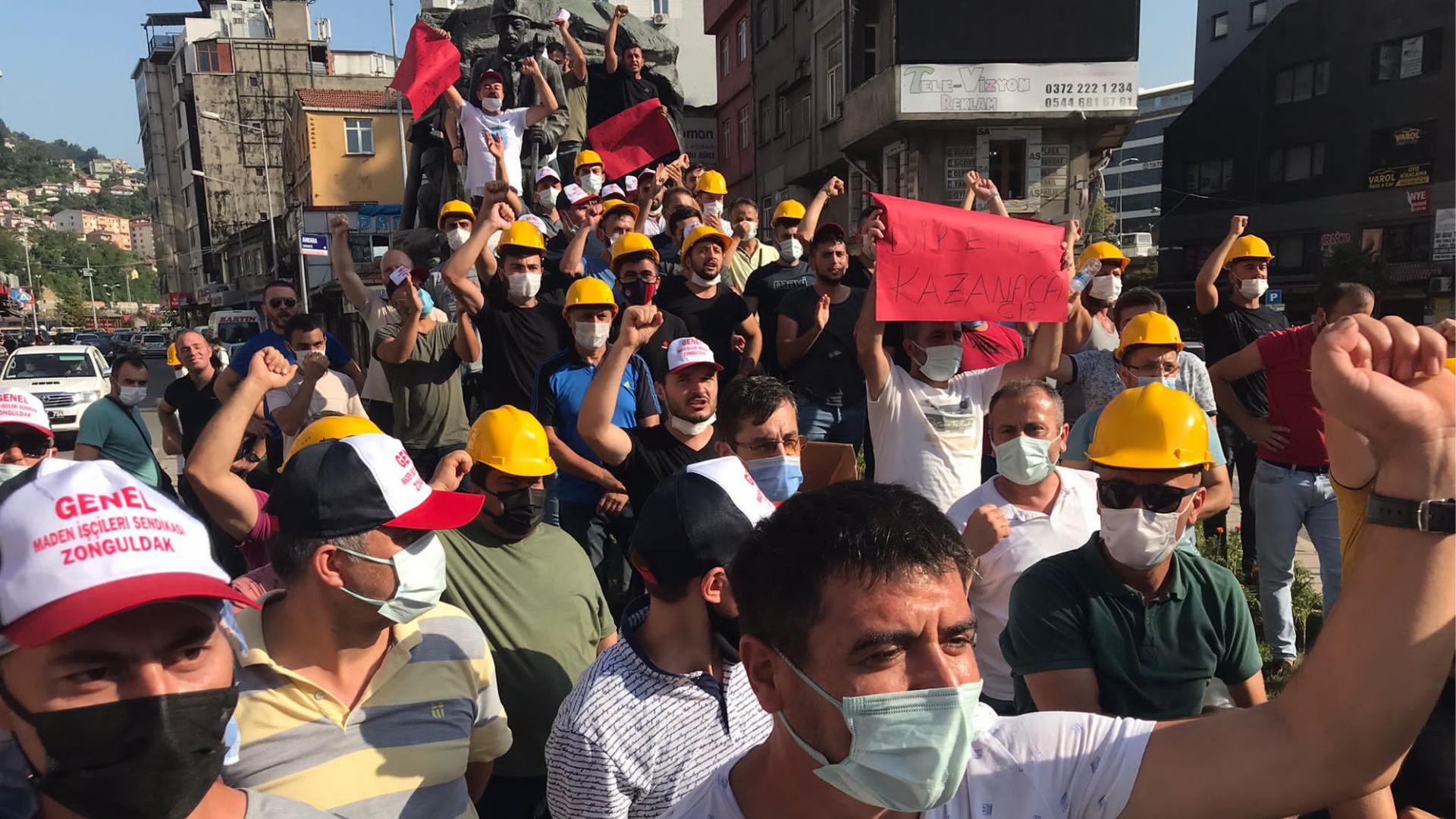 Zonguldak maden işçilerinden 'düşük ücret' protestosu 10