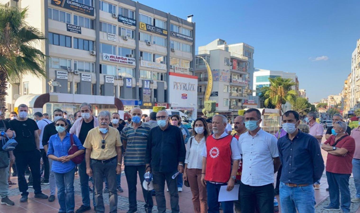 """Aliağa'daki iş cinayetleri protestosu: """"Hesap sormayanlar da suçludur"""""""