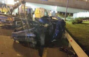 Ankara'da iş cinayeti: Aydınlatma direklerine bakım yapan işçilere araba çarptı: 1 ölü, 3 yaralı 3