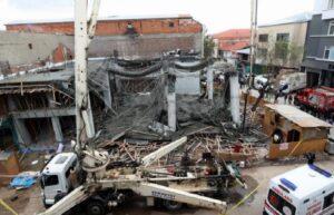 Ankara'da inşaat kirişleri çöktü: 3 işçi yaralandı 2